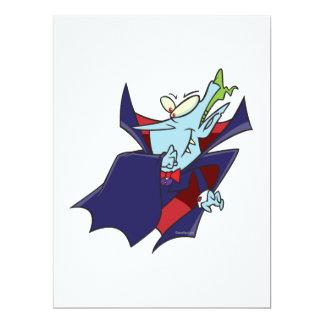 funny silly vampire cartoon character 6.5x8.75 paper invitation card