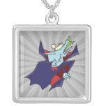 funny silly vampire cartoon character custom jewelry