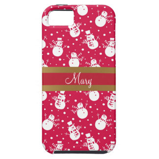 Funny similing  snowmans wearing hat and scarf iPhone SE/5/5s case