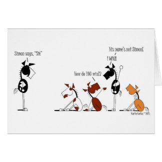 Funny Simon Says Cartoon Cards