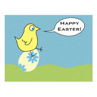 Funny Simple Easter Chicken Postcards