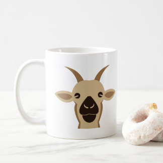 Funny Simple Goat Cartoon Mug - Cute Kids Animal