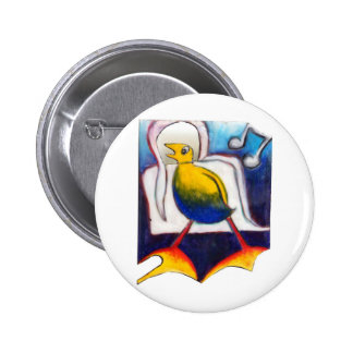 funny singing bird gift buttons