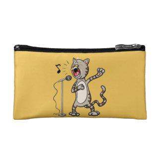 Funny Singing Cat Cosmetic Bag / Yellow