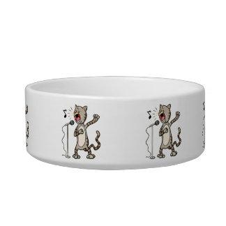 Funny Singing Cat Feeding Bowl