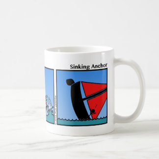 Funny Sinking Anchor Stickman Mug - 107