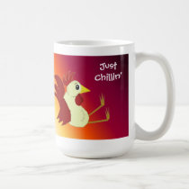 Funny Sitting Rooster Just Chillin' Coffee Mug