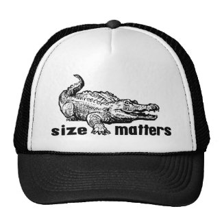 Funny SIZE Matters - Alligator or Crocodile Trucker Hat