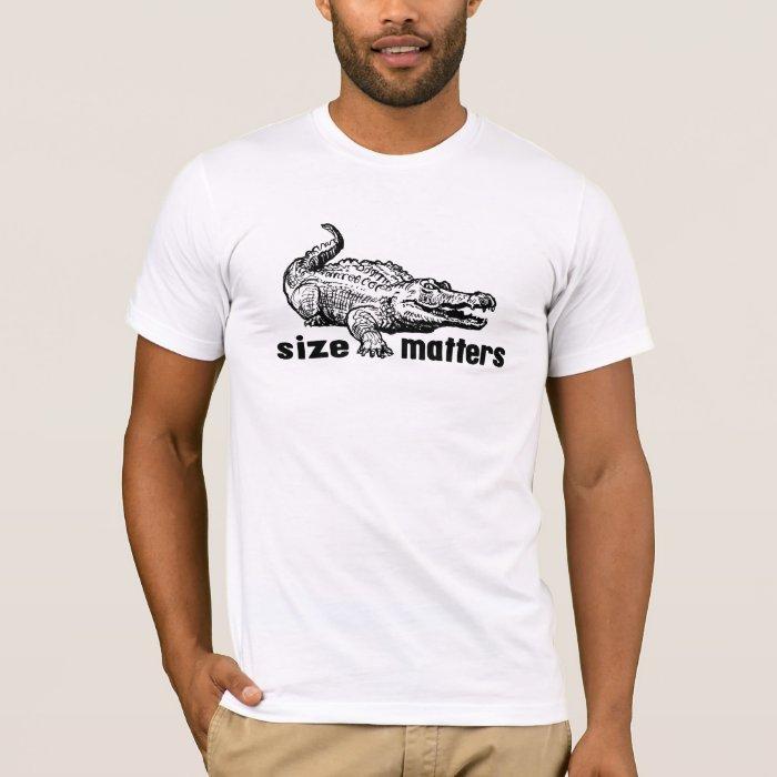 Funny SIZE Matters - Alligator or Crocodile T-Shirt