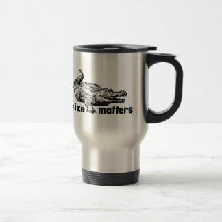 Funny SIZE Matters - Alligator or Crocodile Travel Mug