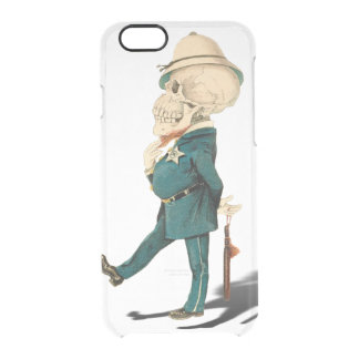 Funny Skeleton Bobby Clear iPhone 6/6S Case