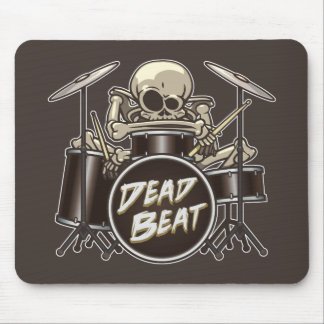 Funny Skeleton Drummer Mouse Pad