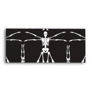 Funny Skeleton Exercises Gothic Bones Skulls Envelope