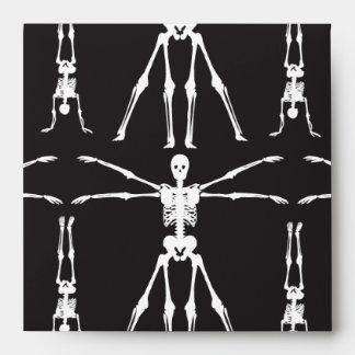 Funny Skeleton Exercises Gothic Bones Skulls Envelopes