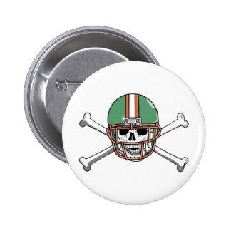 funny skeleton football 2 inch round button