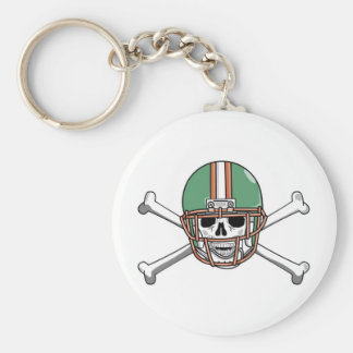 funny skeleton football basic round button keychain