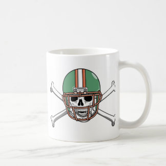 funny skeleton football classic white coffee mug