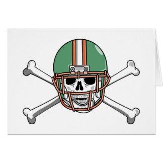 funny skeleton football greeting card