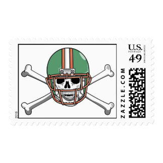 funny skeleton football postage