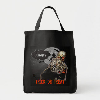Funny Skeleton Halloween   Custom Treat Bag