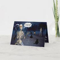 Funny Skeleton Halloween Joke Card