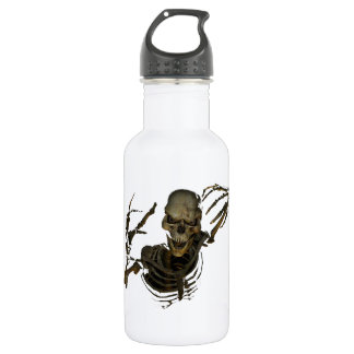 Funny Skeleton 18oz Water Bottle