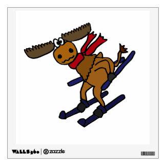 Funny Skiing Moose Room Graphics