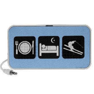 funny skiing travelling speaker