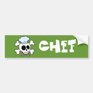 Funny Skull and Crossbones Chef Bumper Stickers