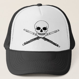Funny Skull And Flutes Hat