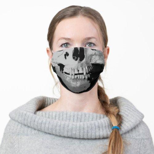 Funny Skull _ Black  White Pop Art Fantasy Art Cloth Face Mask