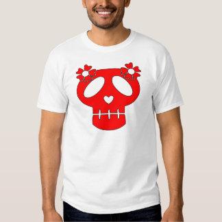 Funny Skull w Flowers T-Shirt