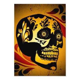 Funny skull magnetic invitations
