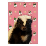 Funny Skunk Christmas Card
