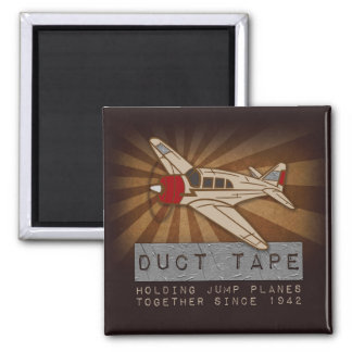 Funny Skydiving Duct Tape Square Magnet
