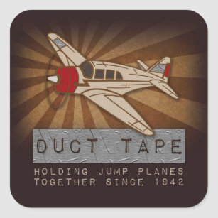 Duct tape stickers zazzle funny skydiving duct tape square stickers glossy square sticker aloadofball Gallery
