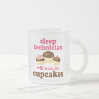 Funny Sleep Technician Frosted Glass Coffee Mug