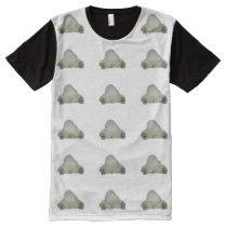Funny Sleeping Polar Bear Photo Pattern All-Over-Print Shirt