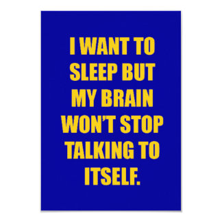 FUNNY SLEEPLESS NIGHTS COMMENT I WANT TO SLEEP BUT CARD