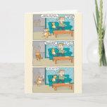 "Funny Sleepwalking Cat Birthday Card<br><div class=""desc"">Here"
