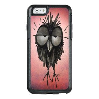 Funny Sleepy Night Owl Art on Pink OtterBox iPhone 6/6s Case