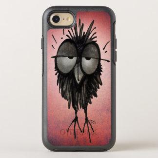 Funny Sleepy Night Owl Art on Pink OtterBox Symmetry iPhone 7 Case