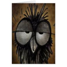 Funny Sleepy Owl Card