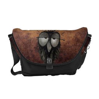 Funny Sleepy Owl Courier Bag