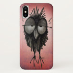 Funny Sleepy Owl on Pink iPhone X Case