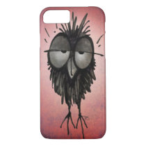 Funny Sleepy Owl on Pink iPhone 7 Case