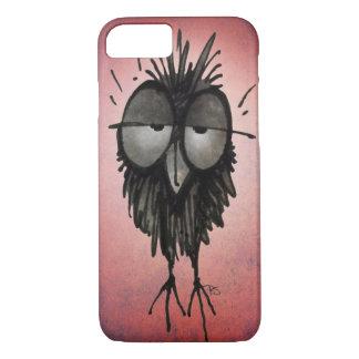 Funny Sleepy Owl on Pink iPhone 8/7 Case