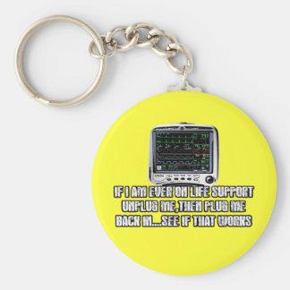 Funny slogan key chain