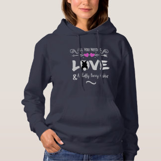 Funny Slogan Love Bunny Rabbits Theme Graphic Hoodie