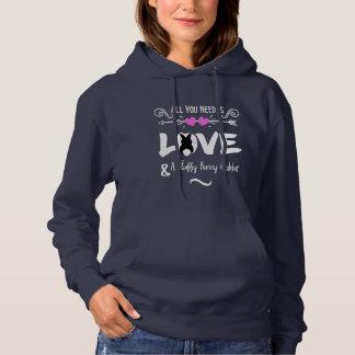 Funny Slogan Love Bunny Rabbits Theme Graphic Hoodie